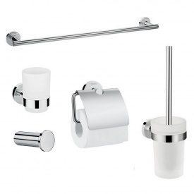 Logis Набор аксессуаров крючок полотенцедержатель держатель туалетной бумаги стакан туалетная щётка (41711000+41716000+41723000+41718000+41722000)