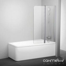 Шторка для ванны Ravak 10CVS2-100 R полир. алюминий/прозрачное 7QRA0C03Z1 левая