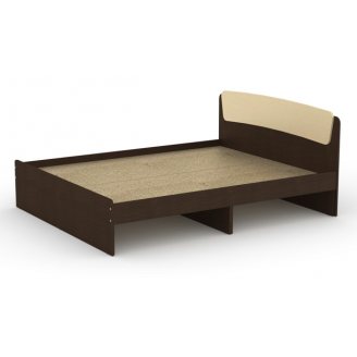 Двоспальне ліжко Класика-140 Компаніт 2042х1452х860 мм ДСП венге з ящиками
