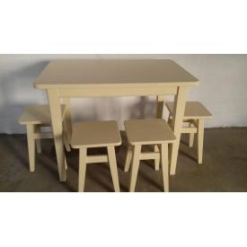 Стол кухонный массив бука под лаком 900х600х750мм