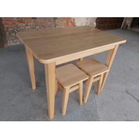 Стол кухонный массив бука под лаком 1000х650