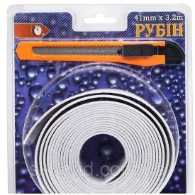 Бордюрна стрічка для ванної Рубін 41 мм 3,2 м