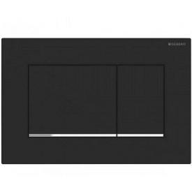 SIGMA 30 cмывная клавиша двойной смыв с легкоочищаемой поверхностью черный матовый/хром глянцевый