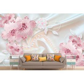 Фотообои 3Д цветочная композиция в розовых тонах
