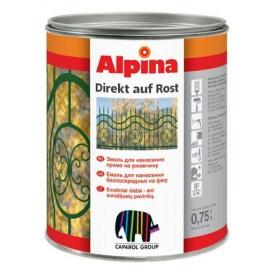 Емаль антикорозійна Alpina auf Rost 3в1 срібна 0,75л