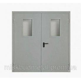 Протипожежні двері зі склом Міськбудметал ДМП 21-18 EI60 C 2100х1800 мм
