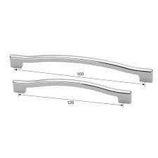 Ручка для мебели хром полированный MVM D-1019-128 CP
