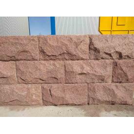 Стіновий камінь з граніту Лезниківського родовища імперська скеля 1,0х0,5х0,4 м