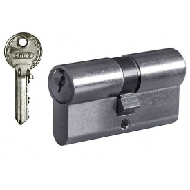 Цилиндр замка ABUS Е50 ключ-ключ 70 мм 35х35 никель 3 ключа