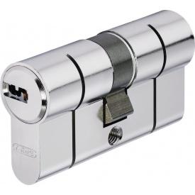 Цилиндр замка ABUS D6PS ключ-ключ усиленная защита 60 мм 30х30 никель 5 ключей
