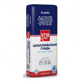 Шпаклевка start гипсовая сухая Acryl-Putz ST 10 20 кг