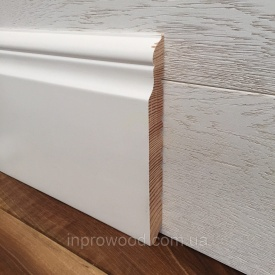 Плинтус викториан 180х18 мм белый деревянный 18 см сосна