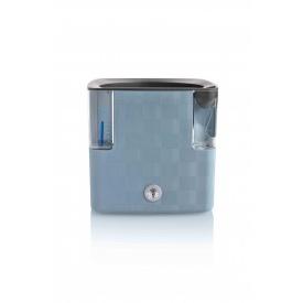 Вазон с системой автополива Cobble 14x14x14 см металлический голубой