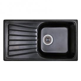 Мойка гранитная Fosto 81x46 SGA-420 цвет черный