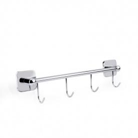 Вешалка для полотенец на 4 крючка GF Italy (CRM)/S- 2714-4
