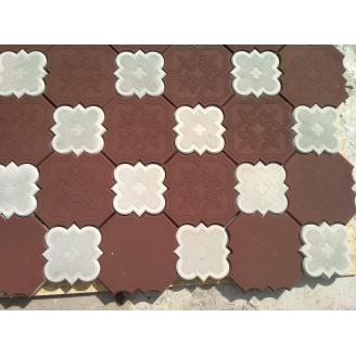 Вібролита плитка тротуарна Клевер Краківський 40 мм червоно-коричнева
