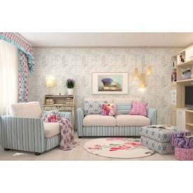 Прямой диван Barselona из ткани 1 категории
