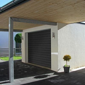 Автоматические гаражные секционные ворота ALUTECH Trend 2500х2250 мм