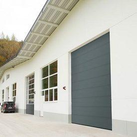 Автоматические промышленные ворота ALUTECH ProPlus 4000х5000 мм серый антрацит
