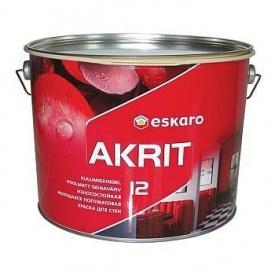 Износостойкая моющаяся краска для стен Eskaro Akrit 12 9,5