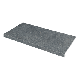 Ступень угловая левая Concrete 345x600x35x10,2 nero SZRXRM 9 RR 1 ZEUS CERAMICA