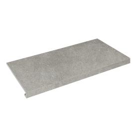 Ступень угловая П-под левая Concrete 345x600x35x10,2 grigio SZRXRM 8 RR 1 ZEUS CERAMICA
