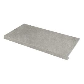 Ступень угловая П-под права Concrete 345x600x35x10,2 grigio SZRXRM 8 RR 2 ZEUS CERAMICA