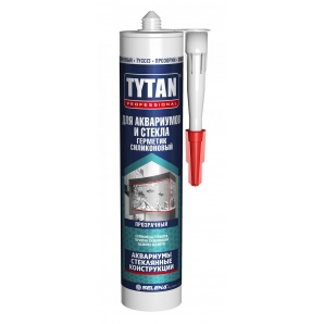 Герметик силиконовый для аквариумов и стекла TYTAN Professional 310 мл белый
