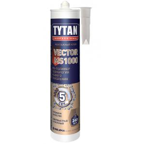 Клей-герметик TYTAN Professional Vector MS-1000 на основе МС-полимеров 290 мл кремовый
