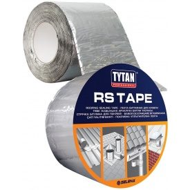 Лента битумная для кровли TYTAN Professional RS TAPE 4 см 10 м алюминий