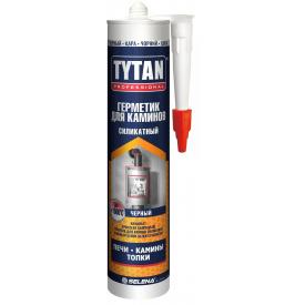 Герметик силикатный для каминов TYTAN Professional 310 мл черный
