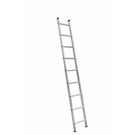 Алюмінієва односекційні приставні сходи на 9 ступенів