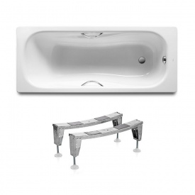 Комплект PRINCESS ванна 150x75 см прямокутна з ручками + ніжки