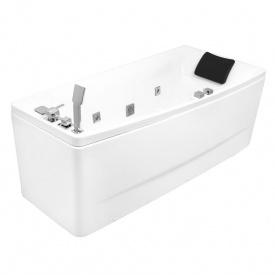 Ванна 170x75x63 см асиметрична гідромасажна права