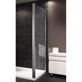 X1 стенка боковая 100 см профиль глянцевый хром стекло прозрачное