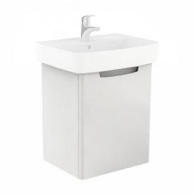 REKORD шкафчик под умывальник 50x59,1x38,5 см белый глянец
