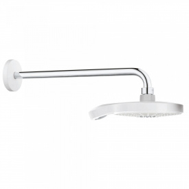 POWER&SOUL Cosmopolitan 190 верхний душ и душевой кронштейн 422 мм, цвет Moon White, Yang White
