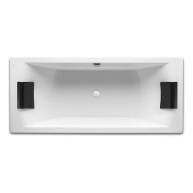 HALL ванна 180x80 см прямоугольная для двоих с ножками с 2-мя подголовниками