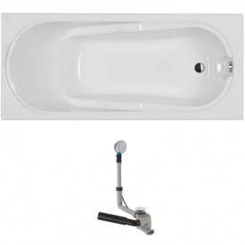 COMFORT ванна 170x75 см прямоугольная в комплекте с сифоном Geberit 150,520,21,1 с ножками SN 7