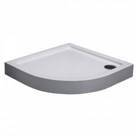 Поддон 90x90x13,5 см мелкий полукруглый с сифоном