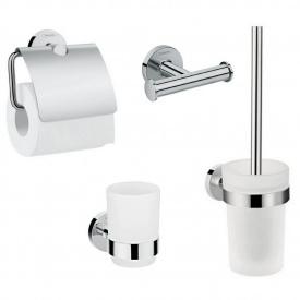 LOGIS набор аксессуаров крючок двойной держатель туалетной бумаги стакан туалетная щётка (41725000+41723000+41718000+41722000)