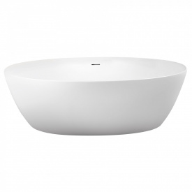 Ванна 170x82x58 см окрема овальна з сифоном матова