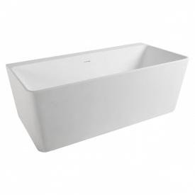 Ванна 165x80x59 см окремостояча/пристінна кам'яна Solid surface