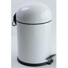 BON відро для сміття з педаллю 5 л білий