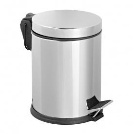 Відро для сміття з педаллю 5 л хром (304 SS)