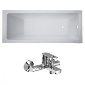 Комплект LIBRA ванна 170x70x45,8 см без ніжок + BENITA змішувач для ванни хром 35 мм
