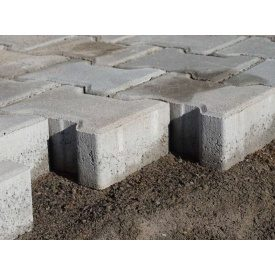 Тротуарная плитка Гантель двойное Т 8 см серая