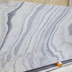 Мрамор Tiara белый с серым сляб 2х260х190 см