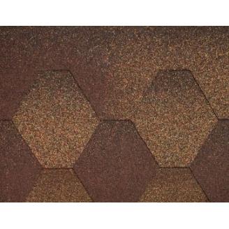 Плитка коньково-карнизна для бітумної черепиці Акваізол коричнева
