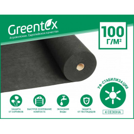 Геоматериал Greentex р-100 1.6х10 м черный